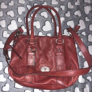 Fossil leather crossbody and satchel